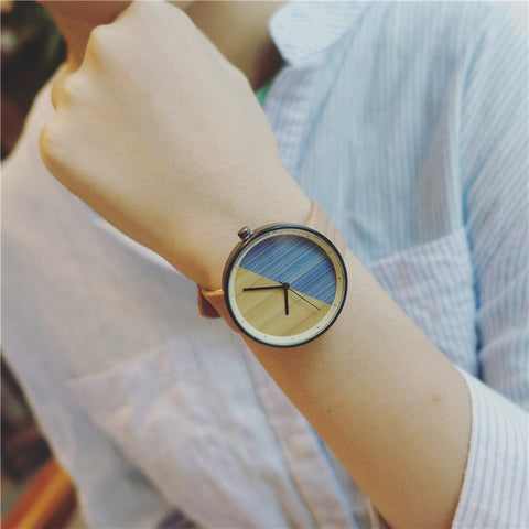 FREE Women Designer Wood Grain Watches