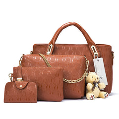 Women Leather Top-Handle Composite Bags