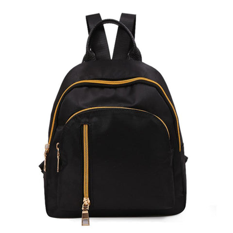 Women & Girls Solid Leather Zipper Backpack