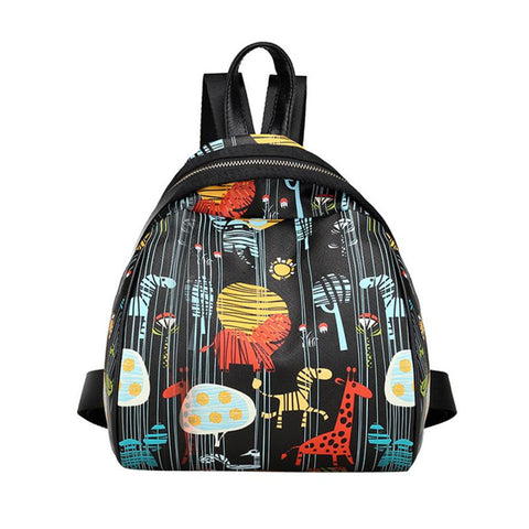Leather Cartoon Character School Backpacks