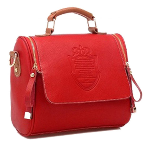 Women Leather Vintage Shield Shoulder Bags - Free Plus Shipping Promotion