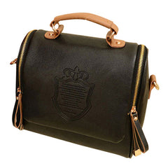 Women Vintage Shield Satchel Shoulder Bag - Free Plus Shipping Promotion