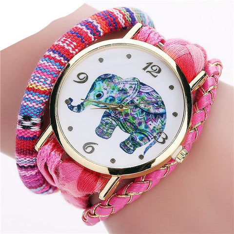 FREE Handmade Braided Elephant Watch Bracelet