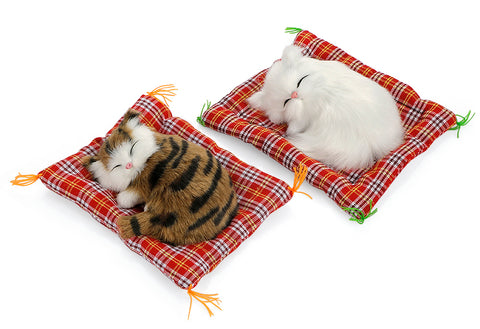 Cute Sleeping Cat Plush Car Ornaments