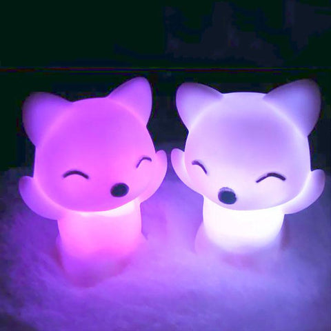 Free Fox LED Night Light - 7 Changing Colors
