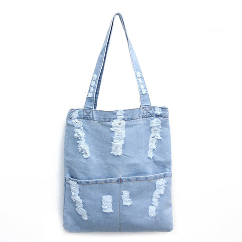Women Fashion Denim Messenger Handbag - Free Plus Shipping Promotion