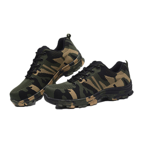 Men's Camouflage Plus Size Steel Toe Tactical Work & Safety Boots