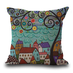 FREE Vintage Homes Pattern Decorative Pillow Covers