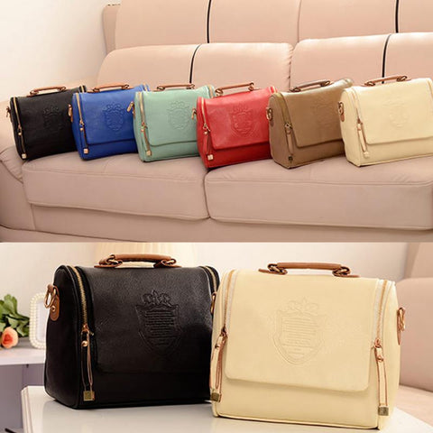 Women Fashion  Leather  Shield Handbag - Free Plus Shipping Promotion
