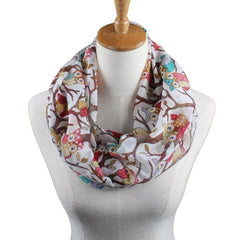 Women Owl Cartoon Printed Scarves