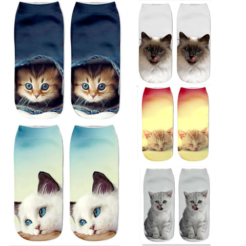 3D Women Cat Socks