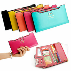 Fashion Lady Women Leather Clutch Purse Long Zip Card Holder Case Wallet Handbag
