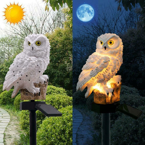 Owl Solar Garden Decor Lighting Landscape Patio Lawn Pathway Outdoor Light