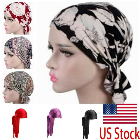 Stretch Turban Head Scarf Cap
