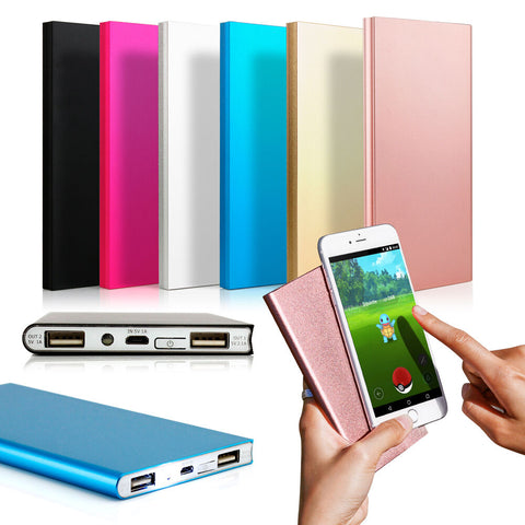 Cell Phone External Portable Battery Charger Ultra Thin 20000mAh