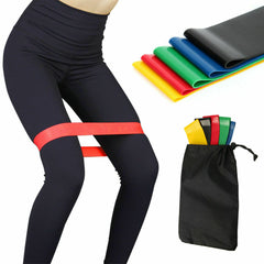5 Workout Resistance Bands Loop Set CrossFit Fitness Yoga Booty Leg Exercise Band
