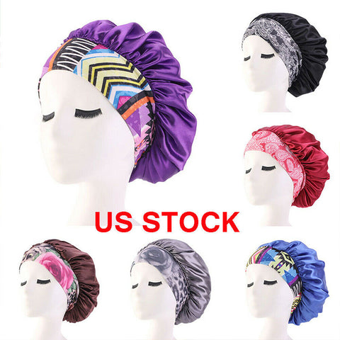 Women Satin Sleeping Elastic Cap