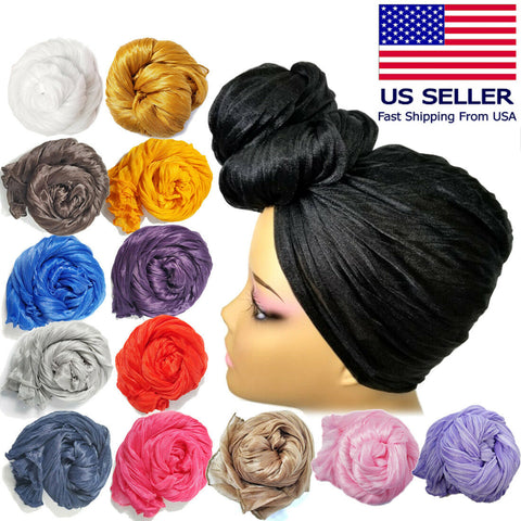 Multi Color Stretch Long Head Wrap