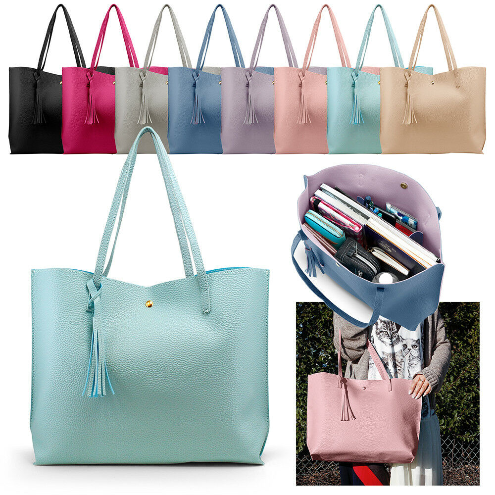 Women Tote PU Leather Shoulder Bags