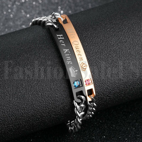 Lovers' Matching Stainless Steel Couple Bracelet