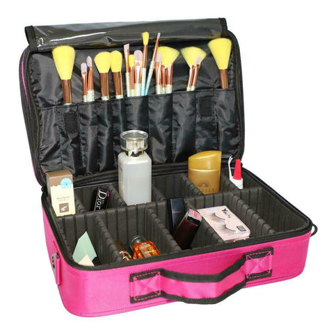 Pro Cosmetic Makeup Case Travel Storage Suitcase Organizer Bag