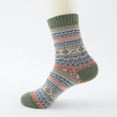 Hombre Stripes Thick Wool Socks