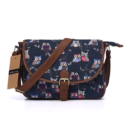 Owl Designer Shoulder Messenger Bag