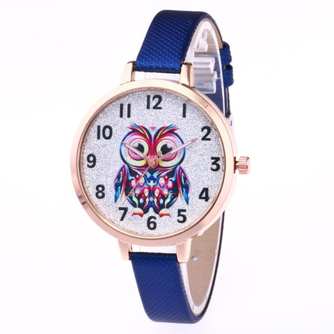 FREE Women's Owl Leather Strap Quartz Wrist Watch