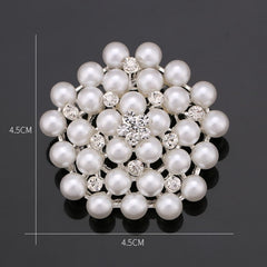 Crystals and Pearls Assorted Design Brooches