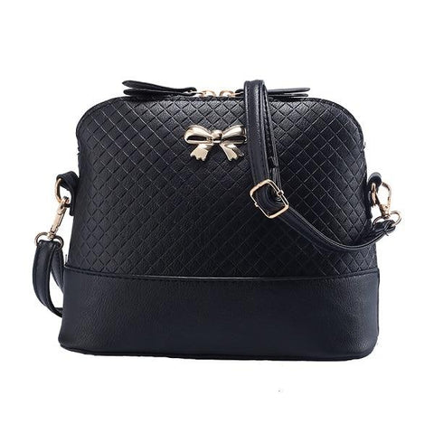 FREE Women Leather Shell Bow-knot Handbags