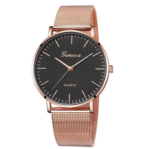 FREE Women Modern Mesh Stainless Steel Quartz Watches