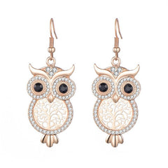 Women Elegant Owl Earrings