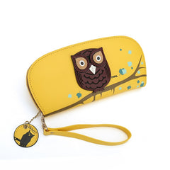 Women Owl Designer Clutch Wallets