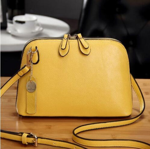 Women Leather Shell Crossbody Shoulder Bags