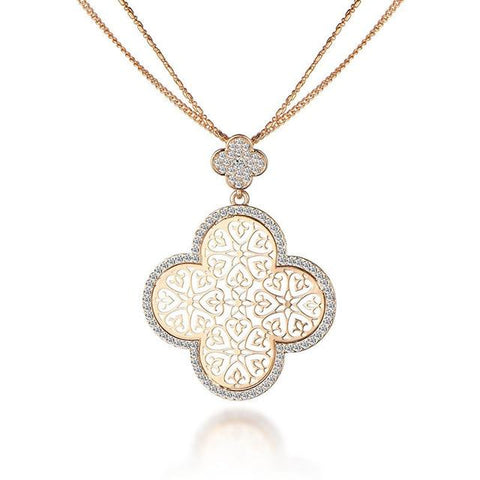 FREE Women's Four Leaf Hollow Clover Necklaces