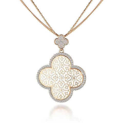 Women's Four Leaf Hollow Clover Necklaces