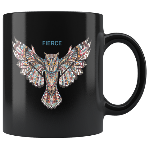 FIERCE Owl Mug - Black
