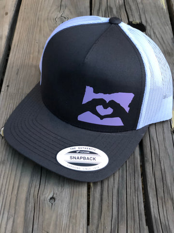 Oregon Hand Heart Trucker Hat