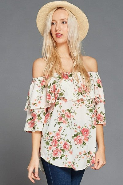 The Floral Carly Blouse