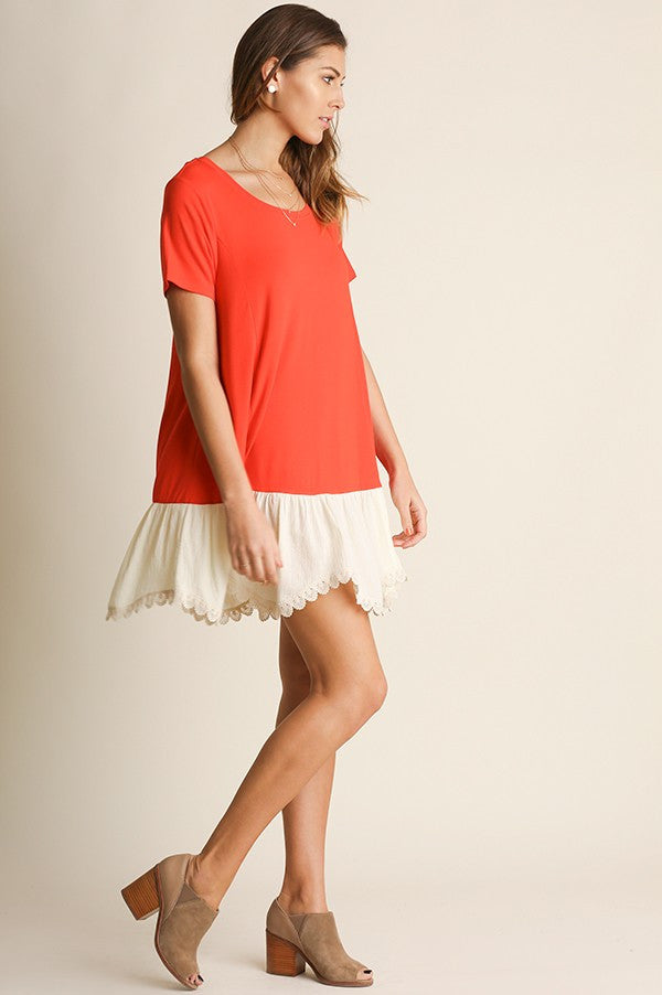 Nina Eyelet Scallop Dress