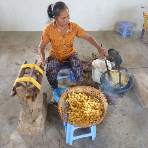 Cambodia Silk Weaving