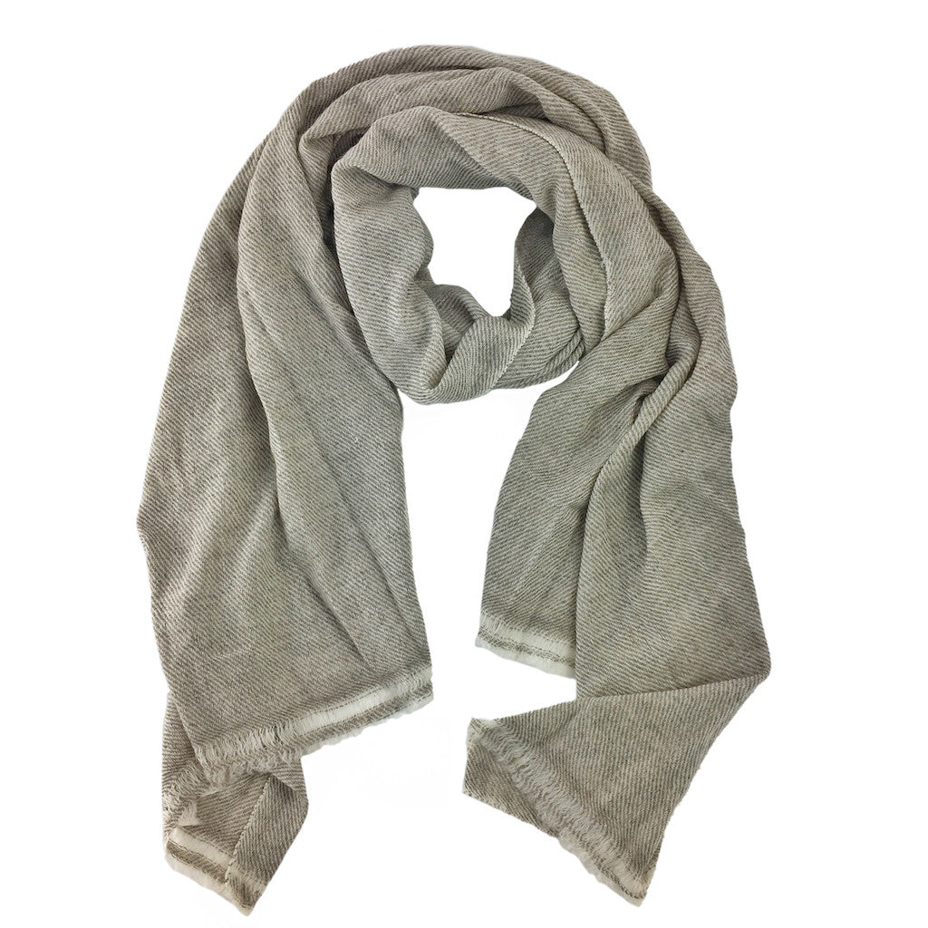 handmade beige cashmere scarf fair trade slate salt slate salt. Black Bedroom Furniture Sets. Home Design Ideas