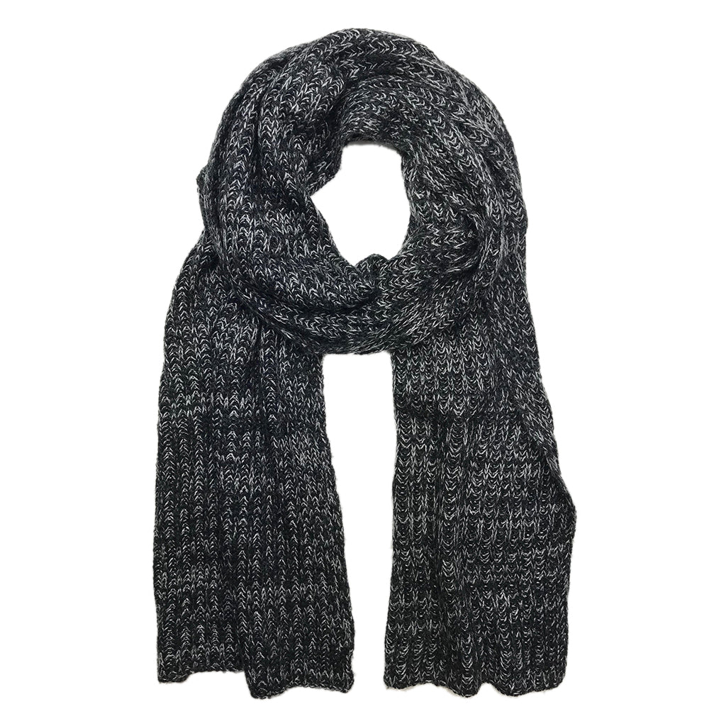 fd6ee8ef8d2a0 Black and Gray Knit Cashmere Scarf | Fair Trade Scarves Handmade in ...