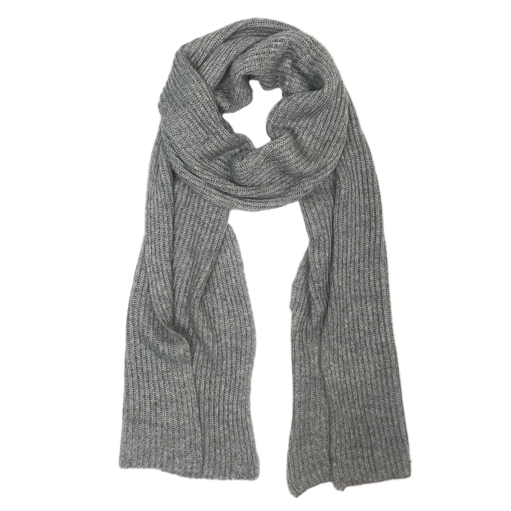 76f901163abd2 Gray Knit Cashmere Scarf | Fair Trade Scarves Handmade in Nepal ...