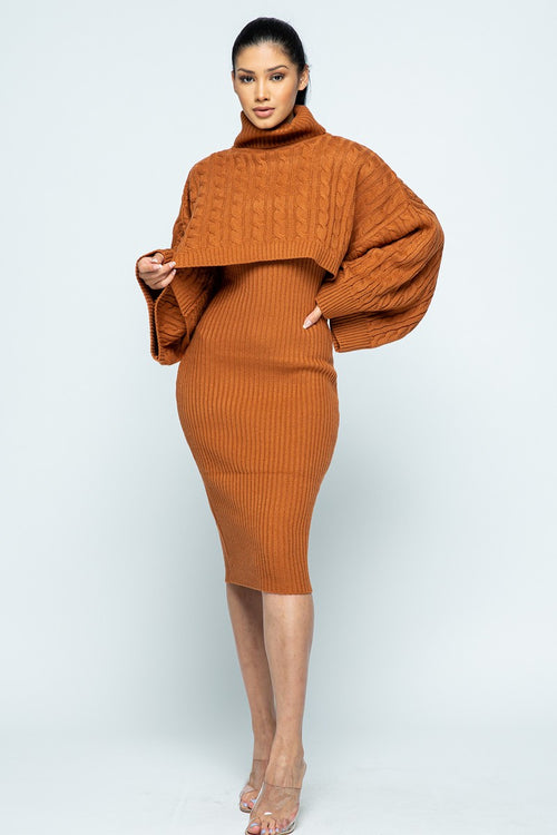 Slay My Work Day Sweater Dress Set