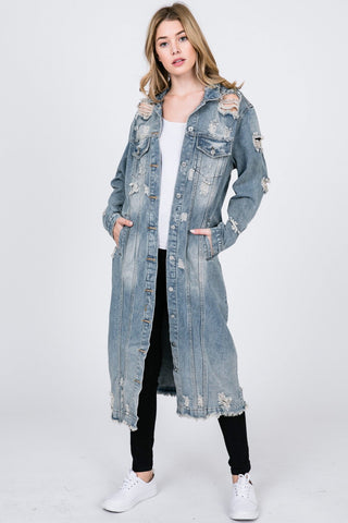 Blowing My Blinging Mind Sequin Denim Jacket