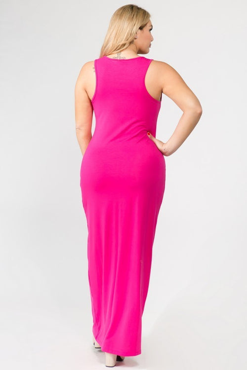 Fuchsia Tank Dress - PLUS