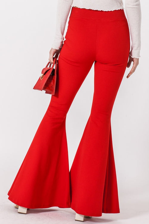 Red Ring The Bell Bottom Stretch Legging Pants