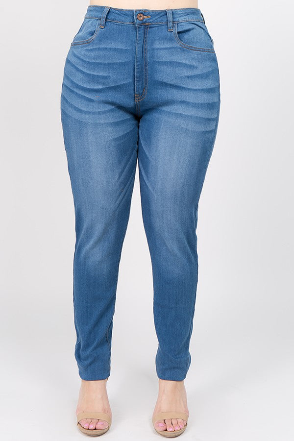High Waist Super Soft Skinny Jean - PLUS - JEANS