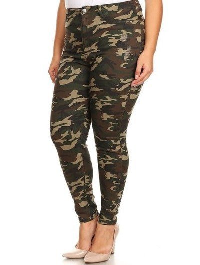 Sassy Sargent Camo Army Fatigue Pants - PLUS